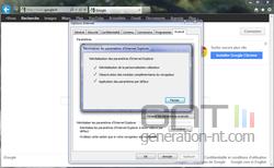 Internet Explorer réinitialisation 4