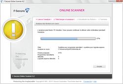 Comparatif  2011 : 11 antivirus en ligne à l\'essai ! f secureonline02