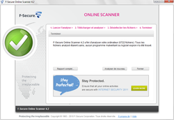 Comparatif  2011 : 11 antivirus en ligne à l\'essai ! f secureonline03