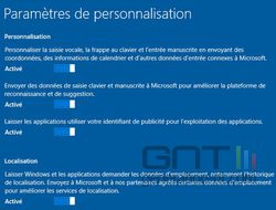 personnalisation Windows 10