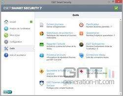 Eset Smart Security 7 outils