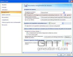 Excel sauvegarde automatique 2
