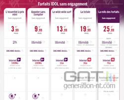 Virgin Mobile forfaits Idol juin 2014
