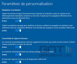 Personnalisation W10 2