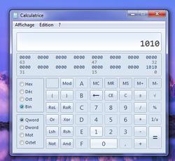 Calculatrice conversion bases 2