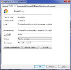 Google Chrome navigation privée 3
