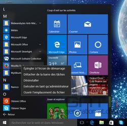 Menu Démarrer Windows 10 (4)