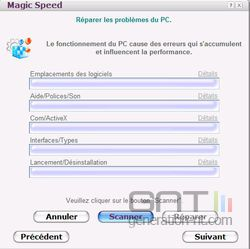 Magic Speed problèmes