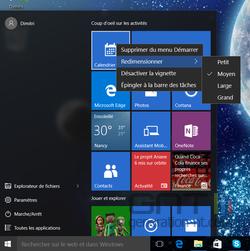 Menu Démarrer Windows 10 (3)