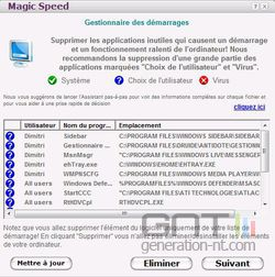 Magic Speed démarrage