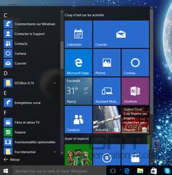 Menu Démarrer Windows 10 (1)