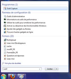 Capture écran Windows 1