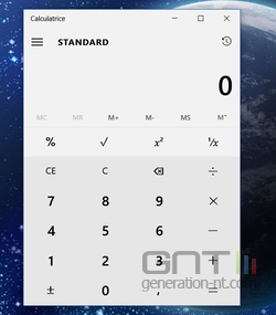 Calculatrice convertisseur Windows 10 (1)
