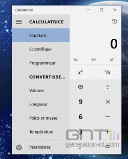 Calculatrice convertisseur Windows 10 (2)