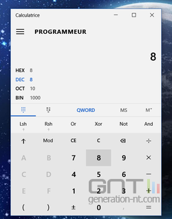 Calculatrice convertisseur Windows 10 (3)