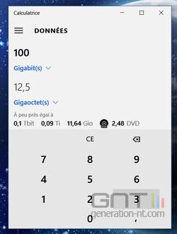 Calculatrice convertisseur Windows 10 (5)