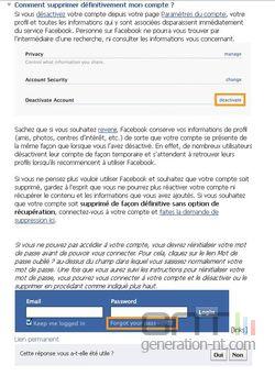 Facebook suppression compte 3