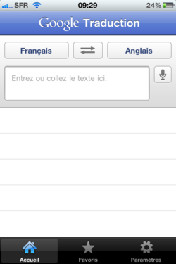 Google Traduction iPhone 001