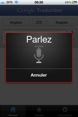 Google Traduction iPhone 002