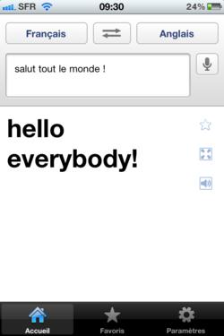 Google Traduction iPhone 003