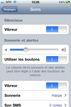 Volume sonore iPhone 002