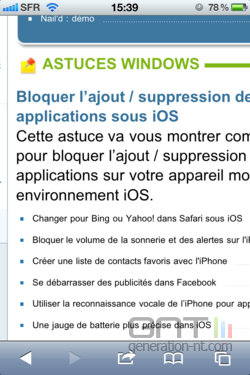 Scroller Safari iOS 001