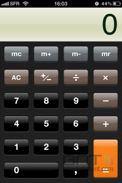 Calculatrice iOS 001