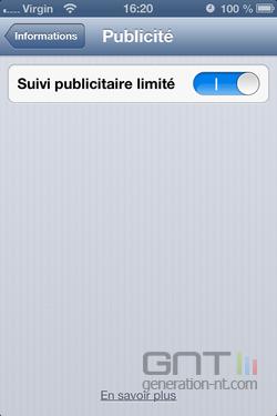 Suivi publicitaire iOS 4