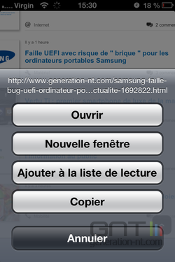 Prévisualisation lien iOS 2