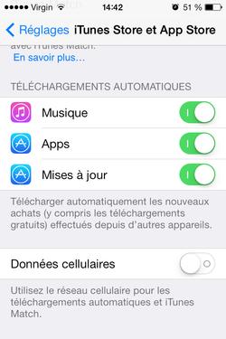 Mise jour automatique iOS (2)
