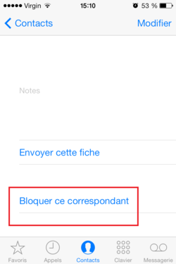 Bloquer appels SMS iPhone (2)