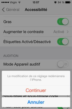 Améliorer lisibilité texte iPhone (5)