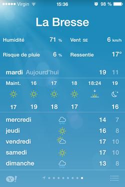Météo iOS (2)