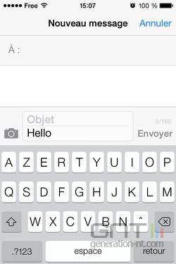 Annuler saisie message iOS (1)