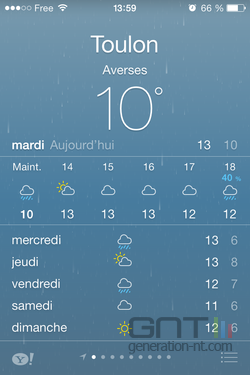 Résumé météo iOS (3)