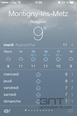 Résumé météo iOS (1)