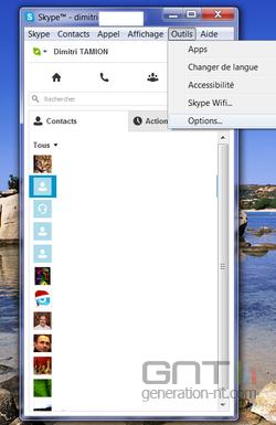 Skype raccourcis 1
