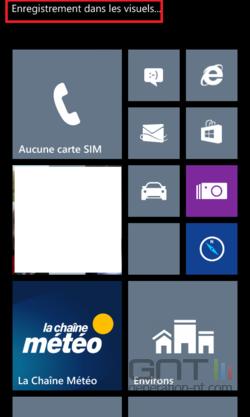 Capture écran Windows Phone