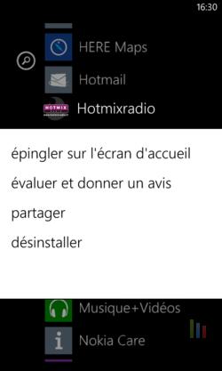 Désinstaller application Windows Phone (2)