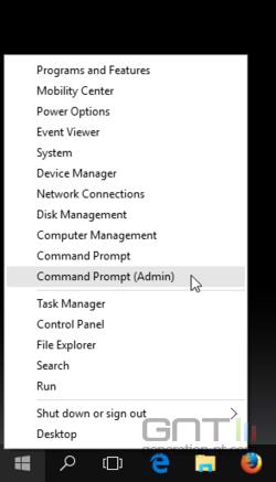 Windows 10 lancement invite de commandes admin -1