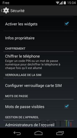 Widgets écran verrouillage (2)