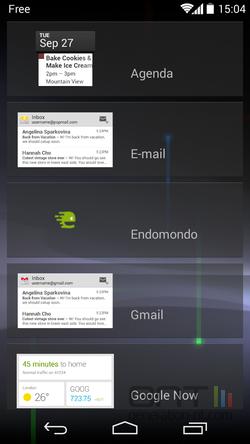 Widgets écran verrouillage (4)