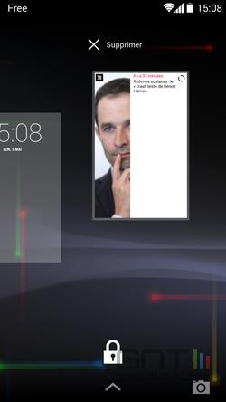 Widgets écran verrouillage (6)
