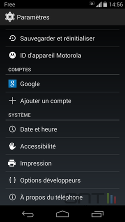 Options développeurs Android (1)