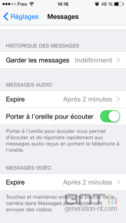 Suppression automatique messages iPhone (2)
