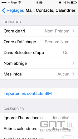 Contacts récents favoris iPhone (2)