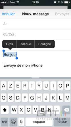 Mise en forme email iPhone iPad (4)