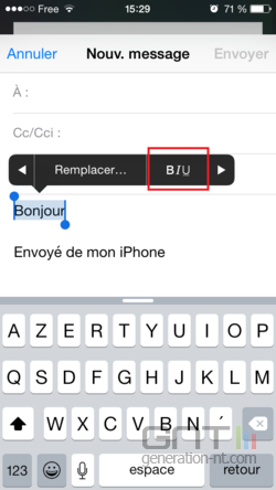 Mise en forme email iPhone iPad (3)