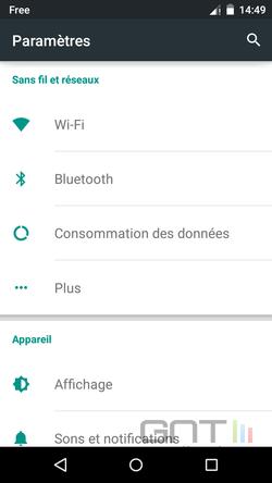 Paramètres Android (2)