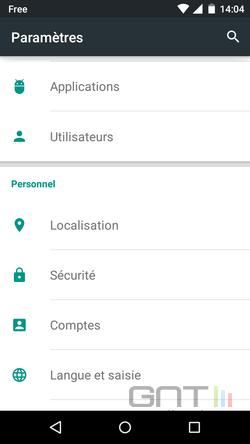 Cacher applications intégrées Android (2)